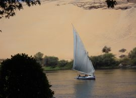 Felluca Tekne Nil Yelkenli Feluka Feluca Tour Excursion River Egypt Aswan